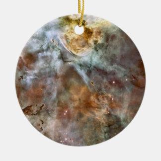 Pastel Marble in the Carina Nebula Ceramic Ornament
