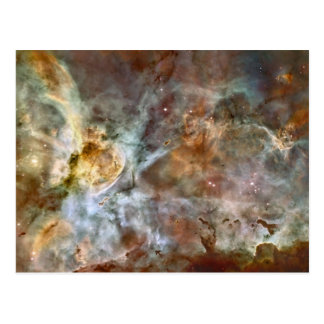 Pastel Marble in the Carina Nebula Postcard