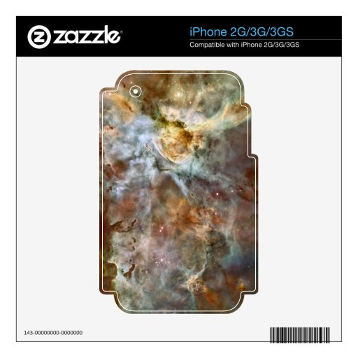 Pastel Marble in the Carina Nebula Decals For iPhone 3G