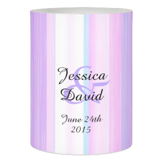Pastel Marriage Anniversary Custom Name and Date Flameless Candle