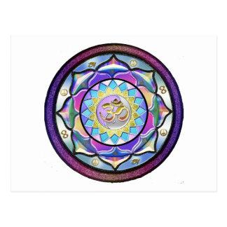 Pastel May Surprise Mandala Postcard