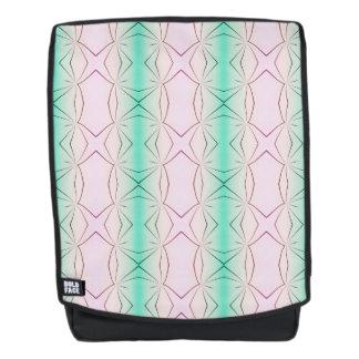 Pastel Melon Streaks Geometric Pattern Backpack