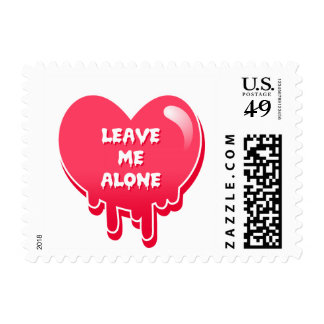 pastel melty heart leave me alone feminism stamps