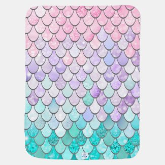 Pastel Mermaid Baby Blanket