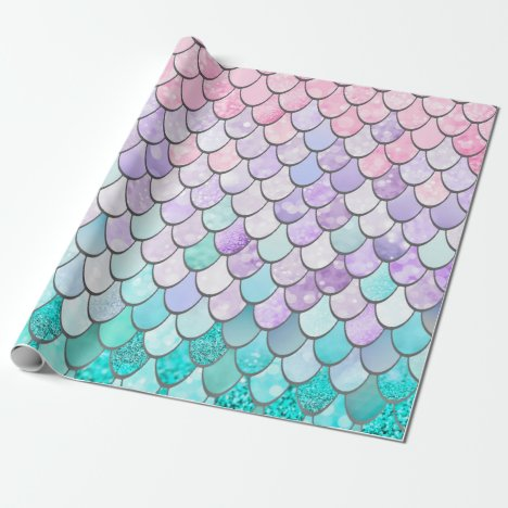 Pastel Mermaid Girls Gift Wrapping Paper