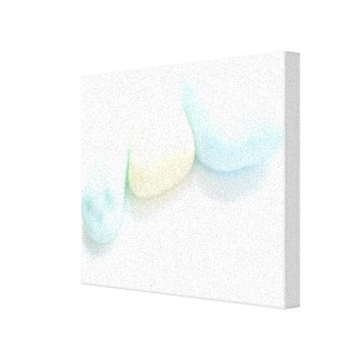 Pastel Milk Glass from Seaham Beach Stretched Canvas Prints