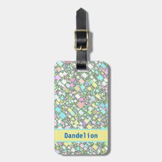 Pastel Mini Boxes Background Travel Bag Tags