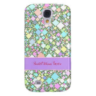 Pastel Mini Boxes Background Samsung Galaxy S4 Case