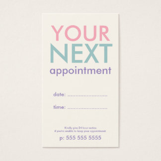 Pastel Minimal Basic Appointment Card