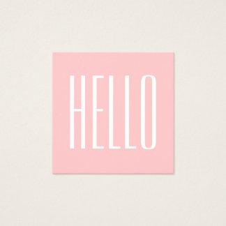 Pastel minimalist modern pink bold business card