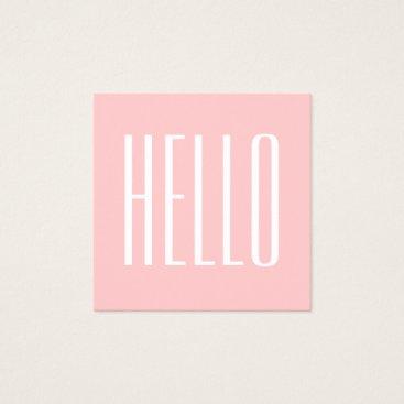 TheBusinesscardShop Pastel minimalist modern pink bold business card