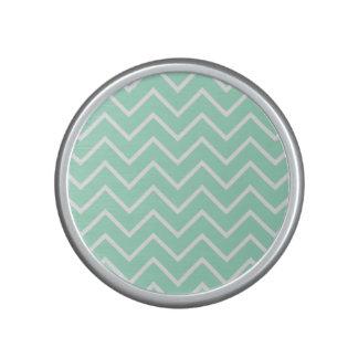 Pastel Mint Chevron Pattern Bluetooth Speaker