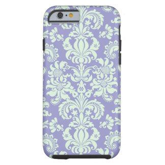 Pastel Mint Green And Lavender Floral Damasks Tough iPhone 6 Case
