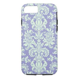 Pastel Mint Green And Lavender Floral Damasks iPhone 7 Case