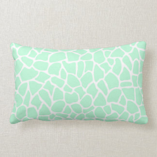 Pastel Mint Green Animal Print Giraffe Pattern Pillow