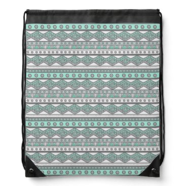 Aztec Themed Pastel Mint Green Gray Girly Aztec Trendy Backpack