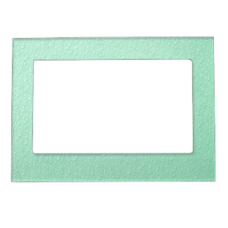 Pastel Mint Green Trendy Colors Magnetic Photo Frame