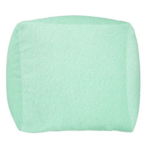 Pastel Mint Green Trendy Colors Pouf