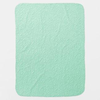 Pastel Mint Green Trendy Colors Receiving Blanket