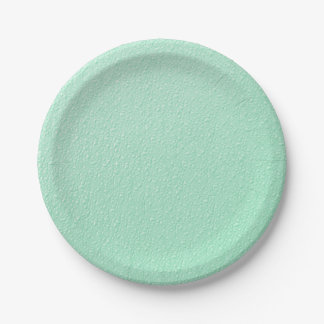 Pastel Mint Green Trendy Colors 7 Inch Paper Plate