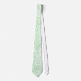 Pastel Mint Green Vintage Floral Damasks Tie