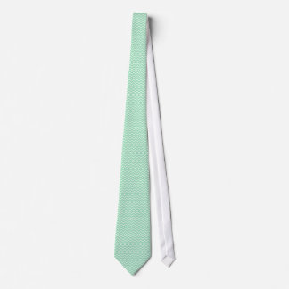 Pastel Mint Green Zigzag Chevron pattern Neck Tie