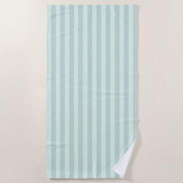 Beach Themed Pastel Mint Striped Beach Towel