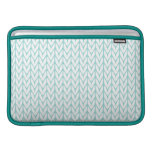 Pastel Mint Yarn Chevrons Knit Pattern MacBook Sleeve