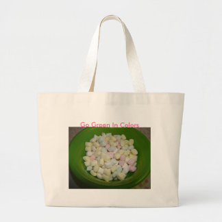 Pastel Mints, Go Green In Colors Large Tote Bag