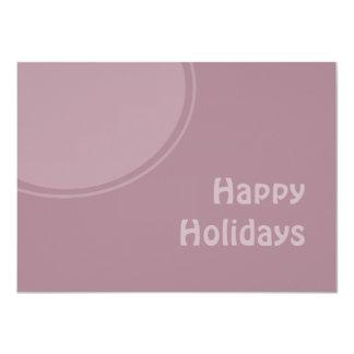 Pastel Modern Happy Holidays 4.5x6.25 Paper Invitation Card