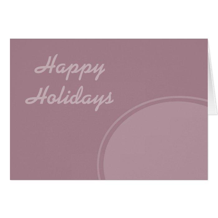 Pastel Modern Happy Holidays Card