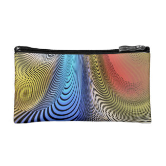 Pastel Moire Cosmetic Bag