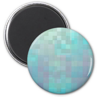 Pastel Mosaic Abstract Art Teal Turquoise Magnet