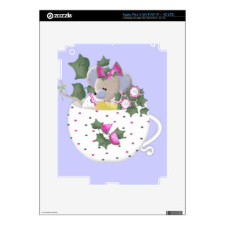 Pastel Mouse in Ivy Teacup Decal For iPad 3