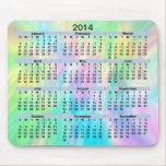 Pastel Mousepad de 2014 calendarios Tapetes De Raton