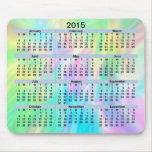 Pastel Mousepad de 2015 calendarios