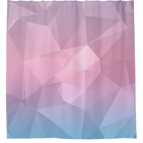 Pastel Multi Color Geometric Pattern Shower Curtain