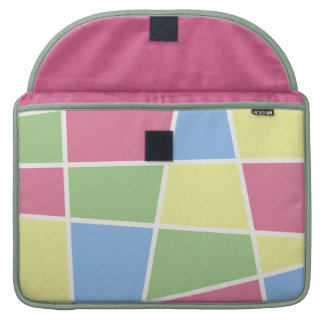 Pastel Multi Mosaic Rickshaw Flap Sleeve Sleeve For MacBook Pro