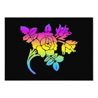 Pastel multicolored roses card