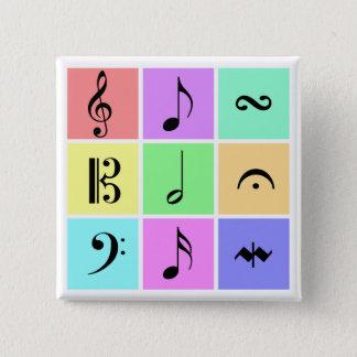 pastel music symbols button