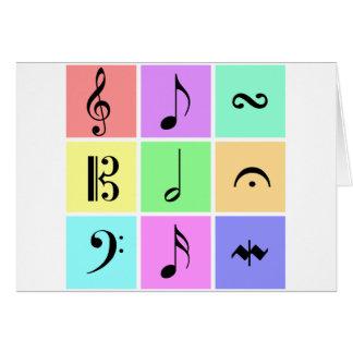 pastel music symbols greeting card