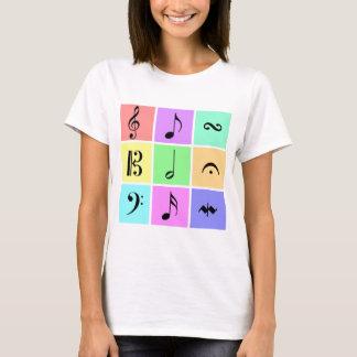 pastel music symbols T-Shirt