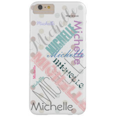 Pastel Name Polka Dot Barely There iPhone 6 Plus Case at Zazzle