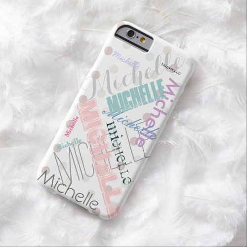 Pastel Name Polka Dot Phone Case