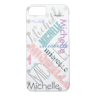 Pastel Name Polka Dot iPhone 7 Case