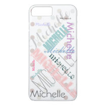 Pastel Name Polka Dot iPhone 7 Plus Case