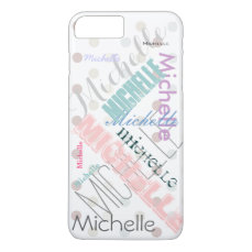 Pastel Name Polka Dot iPhone 8 Plus/7 Plus Case