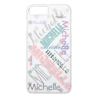 Pastel Name Polka Dot iPhone 8 Plus/7 Plus Case
