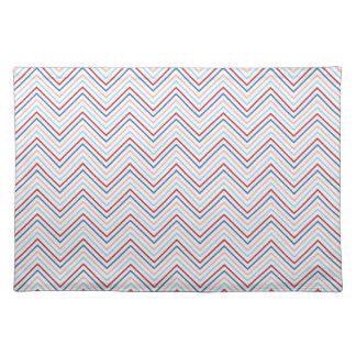 Pastel nautical chevron zigzag zig zag pattern hot placemat