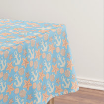Pastel Nautical Pattern Tablecloth